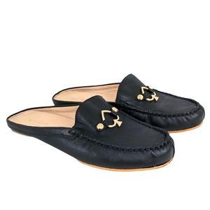 Kate Spade Black Colada Leather Mules 7.5